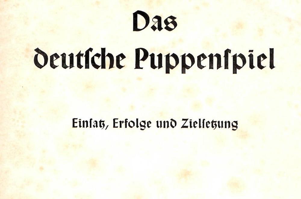 Puppet theatre during the Nazi era